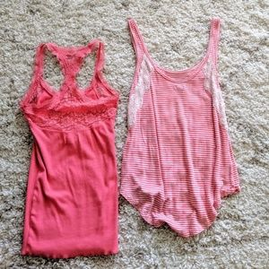 Abercrombie and Aerie Pink Tank Top Bundle